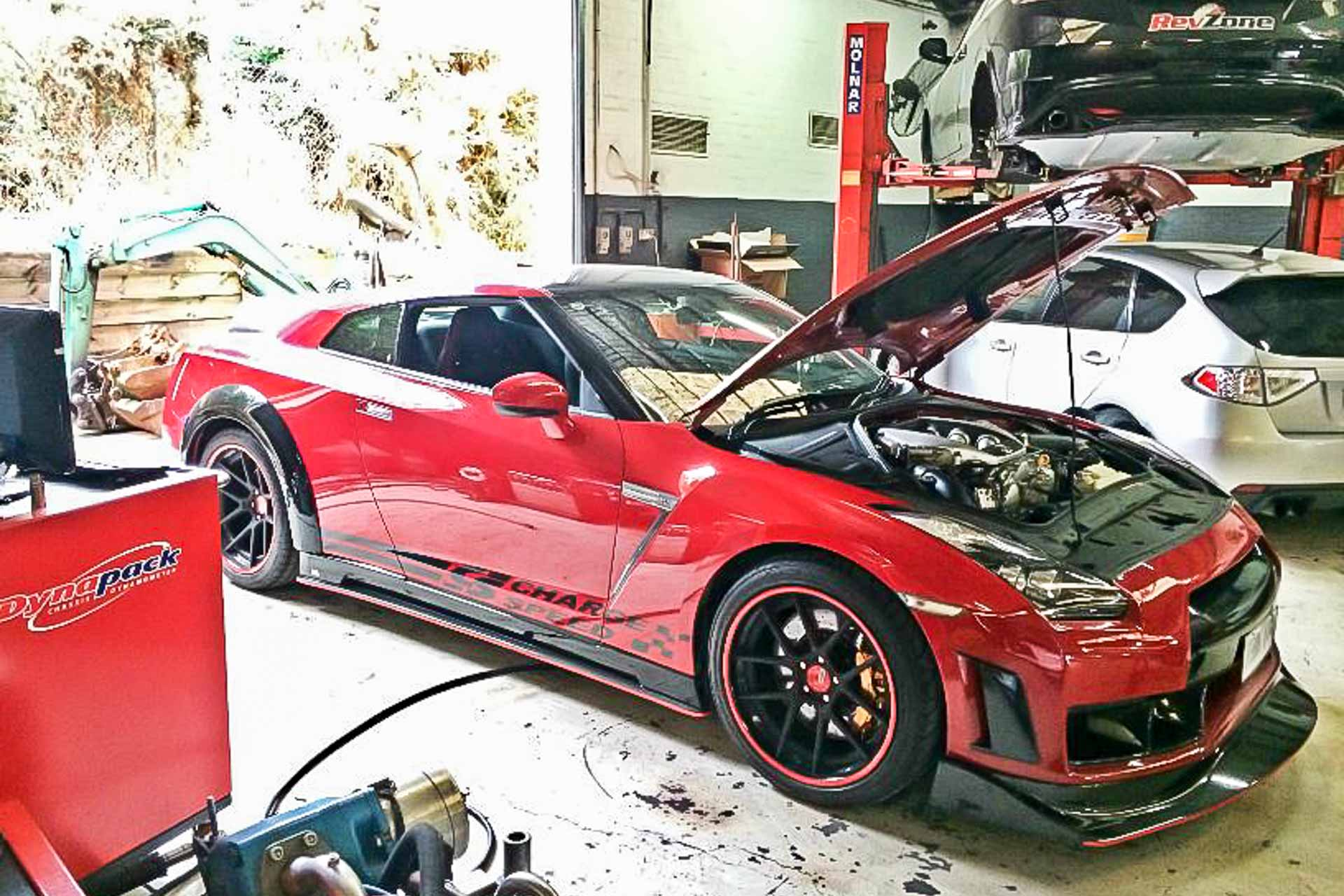 Nissan R35 GTR 1 Nissan R35 GTR At RevZone, our team of skilled mechanics and engineers take care of your R35 like if it was our own.